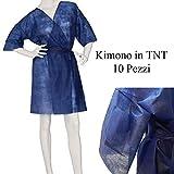 DOBO 10 Pezzi Kimono Blu monouso in TNT Camice estetica con tasta e Cinta USA e Getta per ...