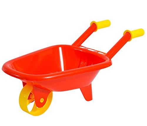 Alsino Carriola per Bambini Rosso con Manici Gialli Giocattolo per Giardino Parco Giochi Spiaggia Sabbia Esterno Giardinaggio