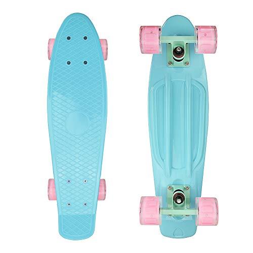 Jaoul Cruiser Skateboard for Girls Kids Ages 6-12, Complete Skate Board 22 Inch Mini Standard Skateboard