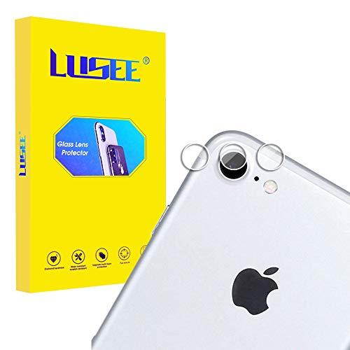Lusee 3 Piezas Cristal Templado Lente Cámara para iPhone 7 Alta Definición Ultra Clara 2.5D Protector Cámara Trasera Lente Película de Pantalla