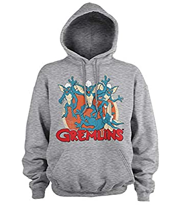 Adults Officially Licensed Gremlins 80s Movie Hoodie, Heather Grey