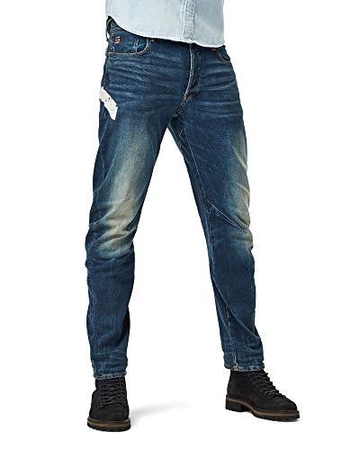 G-STAR RAW Mens Arc 3D Slim Jeans, Antic Faded Baum Blue C052-B817, 34W / L30