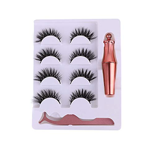 Magnetic Eyeliner and Lashes Kit with Applicator Upgraded 3D Magnetic Eyelashes Kit With Tweezers Inside