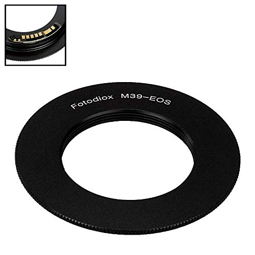 Fotodiox Lens Mount Adapter Compatible with M39/L39 (x1mm Pitch) Screw Mount SLR Lens on Canon EOS (EF, EF-S) Mount D/SLR Camera Body - with Gen10 Focus Confirmation Chip
