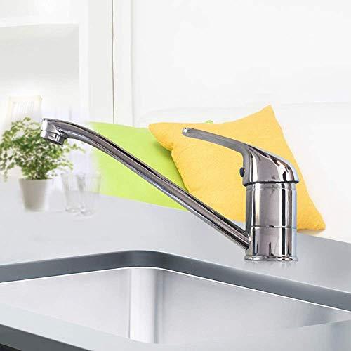 Chenbz Plata Mejoras Baño Cocina Escritorio agua caliente y fría del grifo de herradura del plato orificio de grifo durable Hermosa práctica
