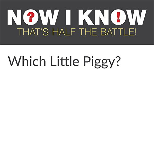 Which Little Piggy? audiobook cover art
