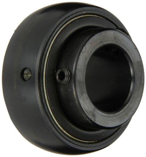 "Sealmaster 5316 Bearing Insert, Medium Duty, Setscrew Locking Collar, Felt Seals, 80mm Bore, 150mm OD, 3-3/8"" Width, 1-15/16"" Outer Ring Width"