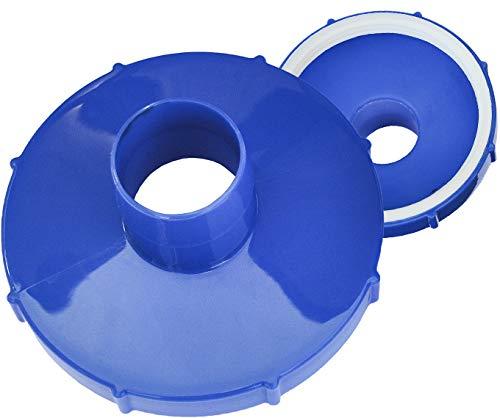 Algenschnapper Adapter universal für Bodensauger, Schraubanschluss 80 mm, 82 mm und 88 mm auf Schlauchanschluss 32 mm, blau/weiß