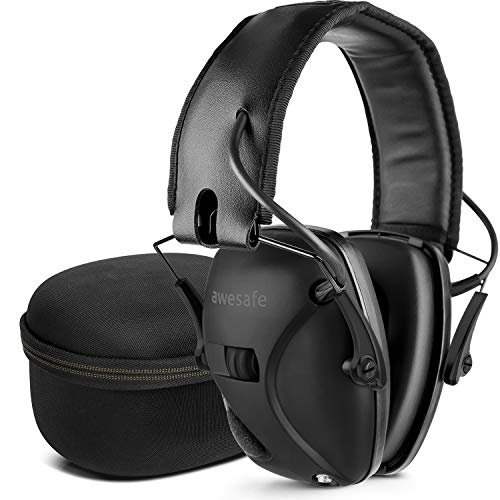 awesafe Electronic Shooting Hearing Protection Earmuffs Comes with Hard Carrying Case, Shooting...