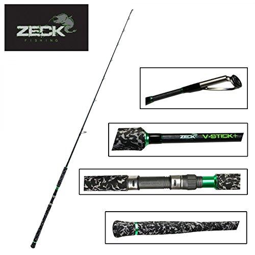 Zeck V-Stick+ 1,90m 250g Wallerrute, Welsrute, Angelrute zum Wallerangeln, Rute zum Vertikalangeln auf Waller, Vertikalrute