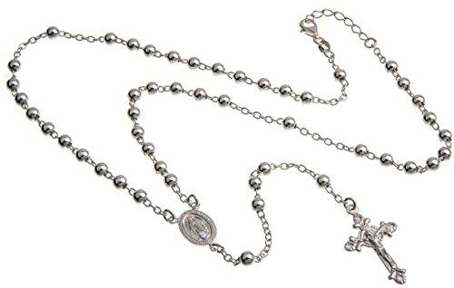 Rosenkranz Alejandro, Rosenkranzkette 925 Silber, Länge wählbar von 49-89cm