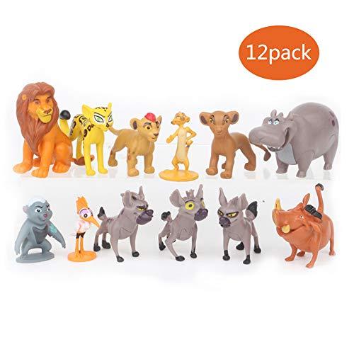 MCDREAM El Rey de los Animales Figura Juguetes Juego de 12 ,Personajes de la pelicula Muñecas Modelo para Coleccionista Figura Decoración Y Regalos para niños