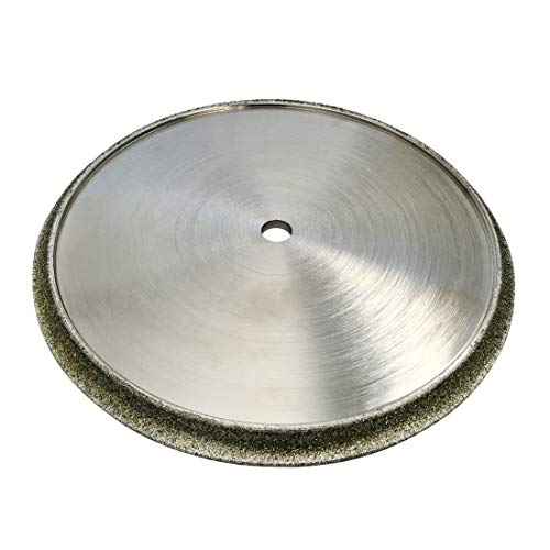 "Diamond Profile Wheel for Granite, Marble, Travertine, and Porcelain for Tile Saws - 7"" Diameter Shape B - 3/8"" Radius Demi-Bullnose"
