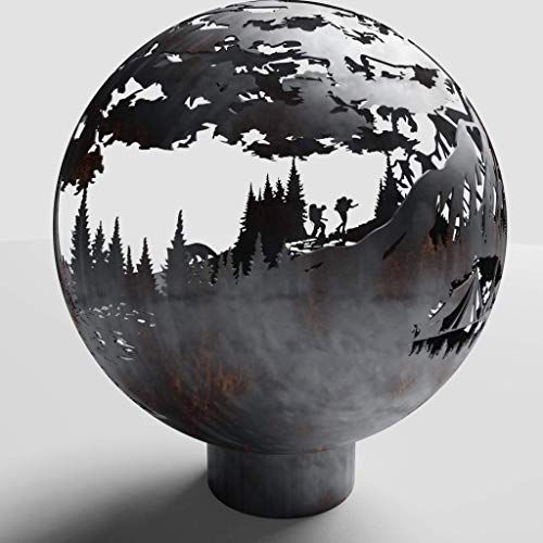 West Coast Firepits The (Propane), Silver Ceramic, 37\
