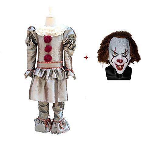 AHJSN Bambini 2019 Cosplay Costume Abito Clown per Bambini Halloween Carnevale Party Una Taglia Adulto