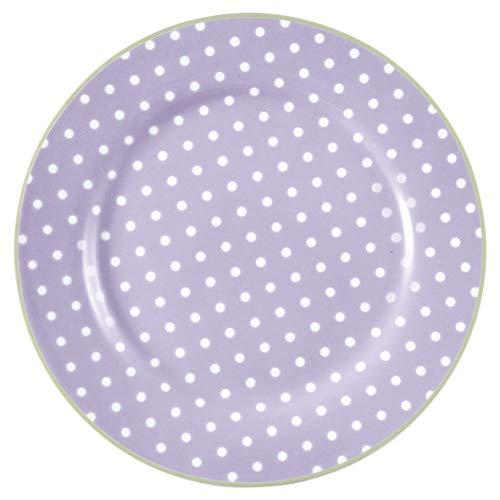 GreenGate - Teller - Kuchenteller - Frühstücksteller - Spot - Porzellan - Lavender/lila - Ø 20,5 cm