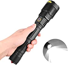 Meiyiu Powerful LED Flashlight XHP70 USB Rechargeable Torch with Safety Hammer for Outdoor