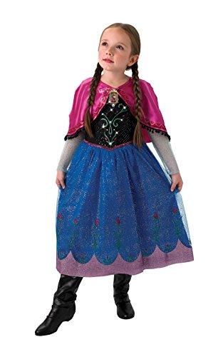 Rubie's Disney Costume de La Reine des Neiges Musical and Light Up Anna pour Enfant – Taille L