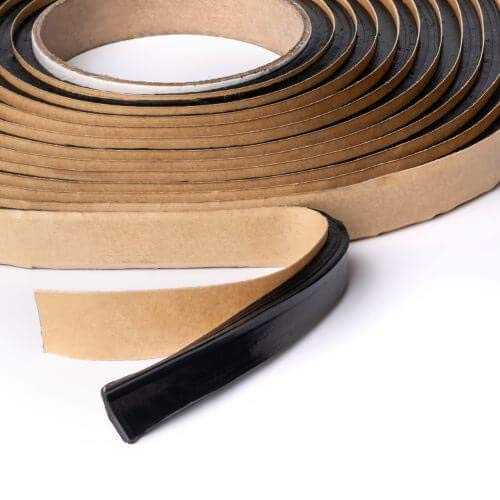 """Second Skin Butyl Sealant Tape – Butyl Rubber Sealant and Multi-Purpose Butyl Rope for All Vehicles (Car, RV, Marine) – 1/4"""" x 1/2"""" x 20' – Made in The USA"""