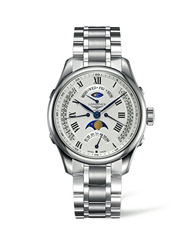 Longines Master Collection - L2.738.4.71.6 - Stainless Steel White Dial Day Date Moon Phase Automatic Men's