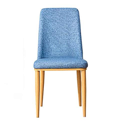 ZGQA-GQA Sedia da Pranzo Soggiorno Sala Legs Chair Sedia Imbottita Lato di Metalli Set di 4 for sedie for Cucina (Colore, Formato: 34x44x90cm)