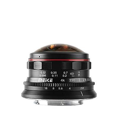 MEKE MK-3.5mm f2.8 Ultra Wide Circular Fisheye Lens for Olympus Panasonic Lumix MFT Micro 4/3 Mount Mirrorless Zenith Digital Bay from HKmeike