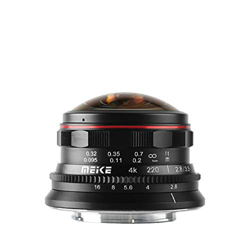 Meike MK-3.5mm f2.8 Ultra Wide Circular Fisheye Lens for Olympus Panasonic Lumix MFT Micro 4/3 Mount Mirrorless Camera
