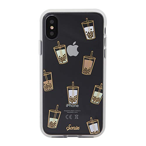 Sonix Boba Case for iPhone X/XS [Military Drop Test Certified] Protective Bubble Tea Clear Case for Apple iPhone X, iPhone Xs