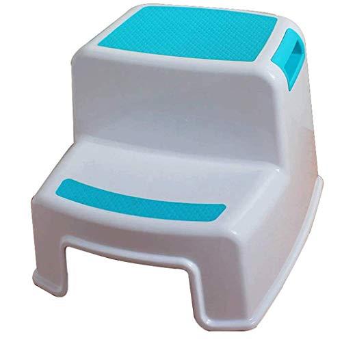 Taburete Taburete de plástico Engrosamiento Adultos Niños Taburete de baño Taburete Inicio Mesa de Comedor Taburete Cambiar Zapatos Taburete Taburete bajo Banco Alto (Color: B)