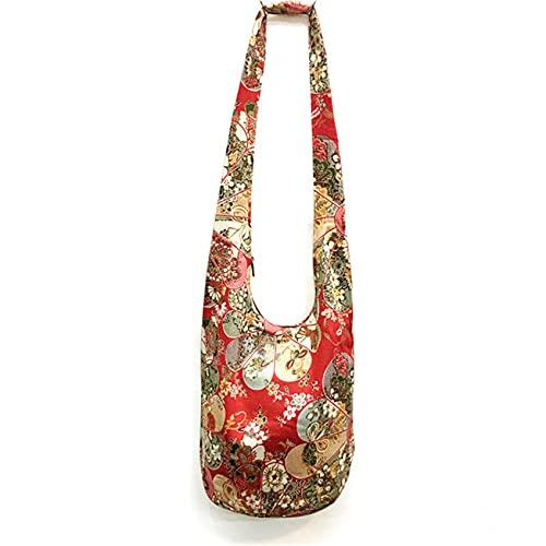 ZHDXW Bolso bandolera para mujer, diseño de elefante, bolsa de mensajero para mujer, bolsa de hombro, bolsa de yoga, estilo indio, bolsa de mensajero de compras, color 633