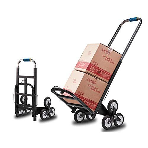 Einkaufswagen, zusammenklappbarer, tragbarer 6-Rad-Einkaufswagen mit Seiltreppe, Kletterwagen, dreirädriges Fahrgestell, zum Bewegen von Gepäck