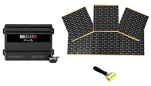 MB QUART FA1-1500.1 1500 Watt Mono Amplifier Car Audio 1-Ohm Amp+Remote+Rockmat