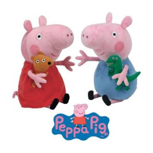 Peluche Ty - Peppa Pig con George Pig 16.cm Peppa Pig Serie