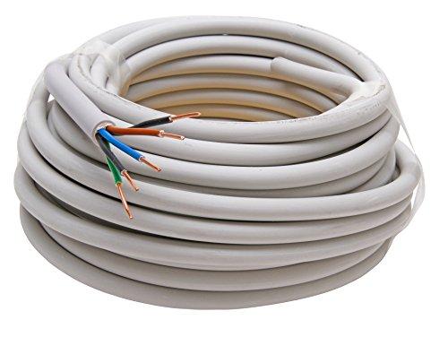 Kopp 153010840 NYM-J 5 x 1,5 mm² Feuchtraum-Kabel, 5 V, 10 m-Ring