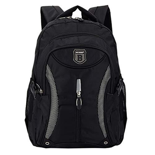 Ergonomisches Daypack City Damen Herren Rucksack Schulrucksack Backpack Tasche für Reise Sport Freizeit (Schwarz)