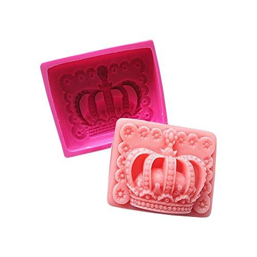 Stampo 3D in silicone per fondente di sapone, candele, torte, glassa di zucchero Corona.