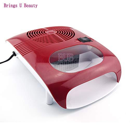 BAYUE Hot & Cold Air Nail Sèche Manucure Souffleur for le séchage Vernis à ongles & Beauté acrylique rouge couleur 220 V EU Plug outil ventilateur (Color : RED 220V EU Plug)