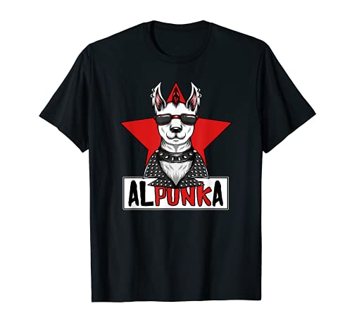 Alpunka Punk Alpaca Llama Punk Rocker Anarchy Camiseta
