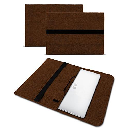 UC-Express Sleeve Hülle kompatibel für Trekstor Primebook C13 / P14 / P13 / P14B Tasche Filz Notebook Cover 13,3-14 Zoll Laptop Hülle, Farben:Braun