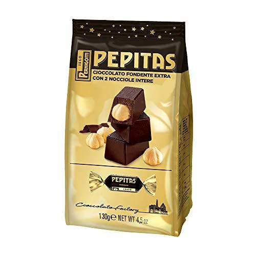 Pernigotti, Sacchetto Torroncini Pepitas Fondenti, Torrone al Cioccolato Fondente con Nocciole Intere, Senza Glutine, 30 Pezzi x 130 gr (3.9 kg)