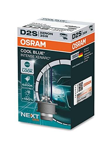OSRAM XENARC COOL BLUE INTENSE D2S, +150% più luminoso, fino a 6.200K, fari allo xeno, look LED, astuccio (1 lampada)