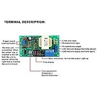 タイマースイッチ安定リレーモジュールLCDタイミングの定期的なトリガーのための高精度クリアディスプレイ