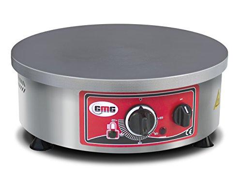 Profi Gastronomie Crepe-Gerät GMG - 3000 Watt - aus Edelstahl, Pfannkuchen Wrap CR-R40 für Gastro, Crepes Eisen/Eisenpfanne, Crepes Platte/Pfanne, Crepes Grill/Herd, Crepes Maschine/Maker