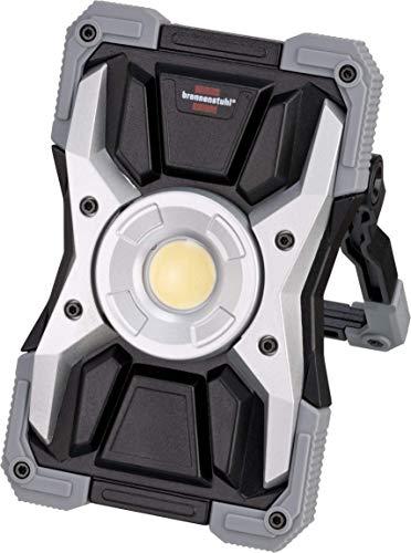 Brennenstuhl Akku LED Arbeitsstrahler RUFUS / LED Arbeitsleuchte für Werkstatt (LED Baustrahler mit Powerbank-Funktion, inkl. Ladekabel, Gehäuse aus Aludruckguss, 1500lm, IP65)