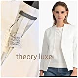 セオリー リュクス theory luxe 福袋 中身 白 ノーカラージャケット/定価53,900円 /サイズ38