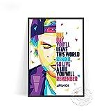 linbindeshoop Avicii Legend DJ Cantante de música Estrella Cartel Abstracto Moderno Impresiones Pintura Arte Lienzo Cuadros de Pared para la decoración(LT-1810) 50x70cm Sin Marco