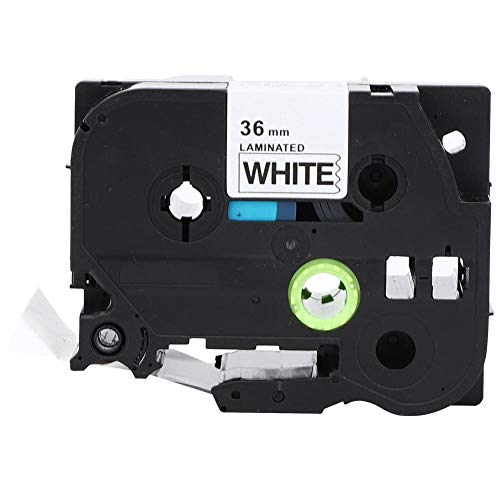 Label Tape, 36 mm PET Label Printer Gelamineerde Label Tape Accessoires Kleur Tape Zwart op Wit Label Maker Tape voor Brother TZe-261/661 PT-9700/P980/P9500
