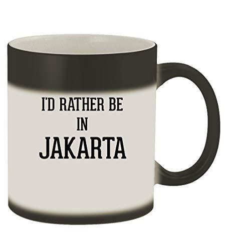 I'd Rather Be In JAKARTA - 11oz Magic Color Changing Mug, Matte Black