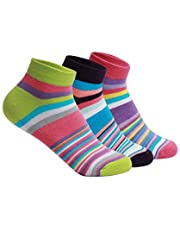 Supersox Women's Combed Cotton Sneaker Length Design Socks (Multicolour, Free Size) -Pack of 3