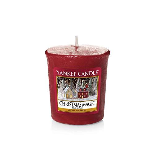 YANKEE CANDLE Samplers - Candele Votive Wax, Christmas Magic, 4,6 x 4,8 x 1 cm